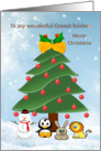 Christmas Grandchildren - tree and animals card