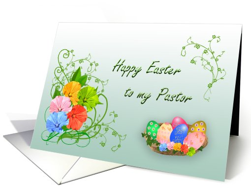 Happy Easter Pastor card (397662)