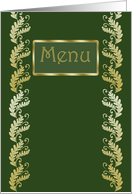 Menu card with leafy elegant pattern card