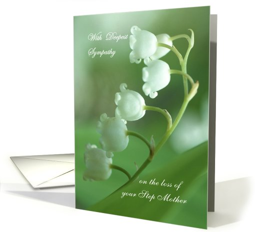 Sympathy, loss of your Step Mother - Lily of  the valley card (631443)