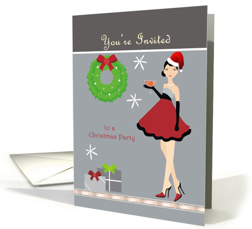 Holiday Party - Girl Invitation card (874298)