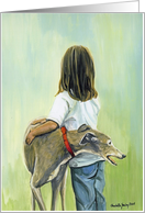 Girl with Greyhound card