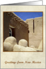 Greetings from New Mexico, Taos adobe church, photography card
