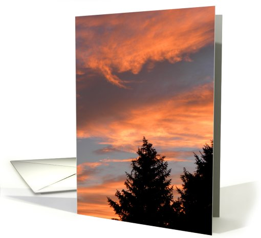 Stunning Sunset Colors card (670959)