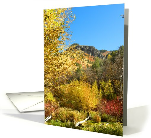 Canyon Fall Colors card (710496)
