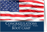 Congratulations on Graduation from Boot Camp card