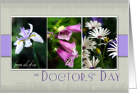 From all of us on Doctors' Day- Purple Flower Snapshots card