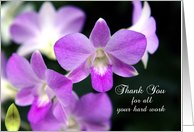 Thank You- Administrative Professionals Day Card-Purple Orchids card