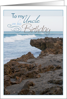 Uncle Birthday- Beach Rocks and Waves card