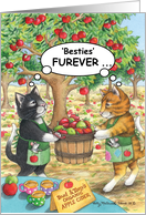 Best Friend Birthday Cats (Bud & Tony) card