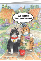 Congratulations Cat Adoption (Bud & Tony) card