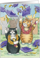 Cats At Graduation (Bud & Tony) card