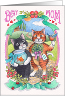 Cats Mother's Day Best Mom (Bud & Tony) card