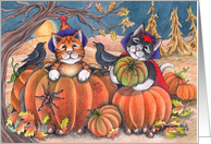 Halloween Cats Costume Party Invitation (Bud & Tony) card
