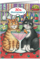 Cats Happy 30th Wedding Anniv. (Bud & Tony) card