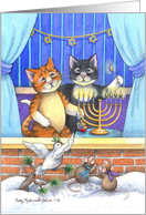 Happy Hanukkah Cats (Bud & Tony) card