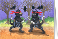 Ninja Cats Happy Birthday (Bud & Tony) card