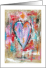 Happy Valentine's Day To My Friend, Abstract Art Heart Painting card