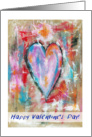 Happy Valentine's Day, General, Abstract Art Heart Painting, Grunge card