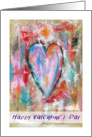 Happy Valentine's Day, Co-worker, Abstract Art Heart Painting, Grunge card