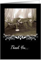 Thank You Bridesmaid, Bride, Wedding Dress card