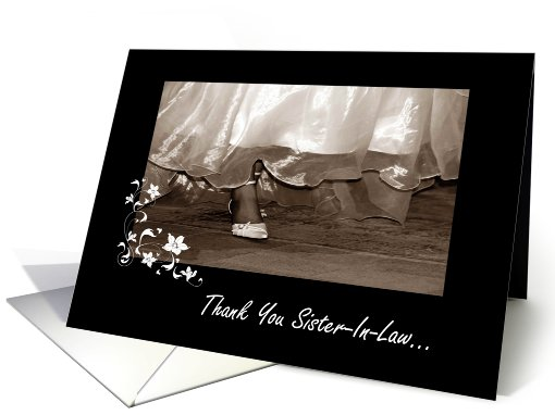 Thank You Sister-In-Law - Bridesmaid card (448664)