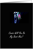 Cousin Will You Be My Best Man? card