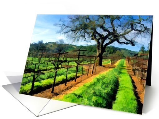Spring in the Vineyard card (688252)