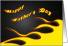 Father's Day Racing Flames card