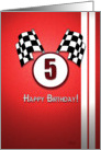 Red Racing Birthday: 5 card