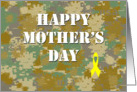 Happy Mother's Day: Military Yellow Ribbon card