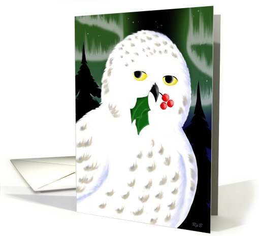 Snowy Owl Holiday card (476858)