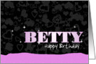 Birthday: Betty Pink Sparkle-esque card
