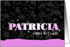 Birthday: Patricia Pink Sparkle-esque card