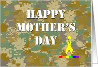 Happy Mother's Day: Military Rainbow card