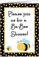 Buzzing Honey Bumble Bee Spring Insect Baby Shower Invitation card