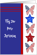 Flag Day Party Invitation card