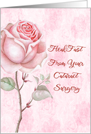 Cataract Surgery with Large Pink Rose card