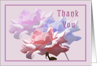 Thank you, Pink Blue & Lavender Roses, Moved card