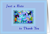 Thank you note, For Helping Me Move, Blue Butterflies card