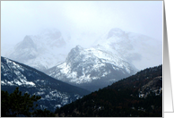 Colorado - Snowing in the Rocky Mountains card