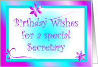 Birthday - Secretary card