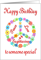 Happy Birthday Sagittarius Astrology Zodiac Birth Sign card