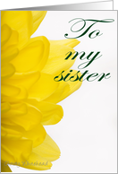Happy Sister's Day (yellow petals) card