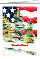 Bless our Troops Patriotic Christmas Card
