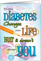 Juvenile Diabetes Get Well for Teens or Tweens in Bright Colors card