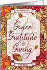 for Niece Thanksgiving Blessings of Grace & Gratitude card