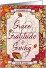 for Niece and Family Thanksgiving Blessings of Grace card