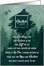 for Brother's Birthday Forest Green Woodland Theme card