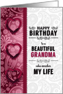 for Grandma's Birthday Pink Hearts and Paisley card